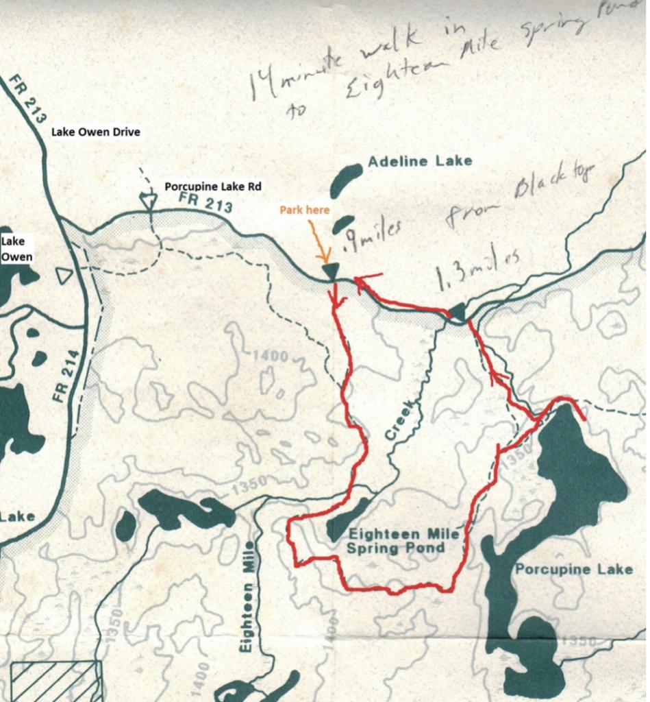 Porcupine Lake Loop Hike